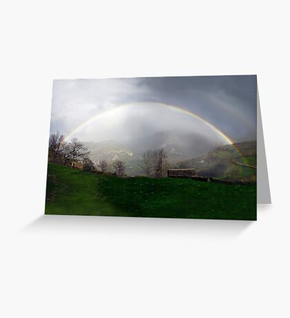 Magnificent rainbow Greeting Card