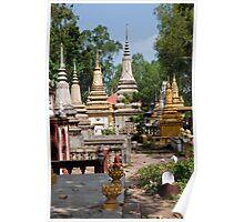Wat Bo Stupas Poster
