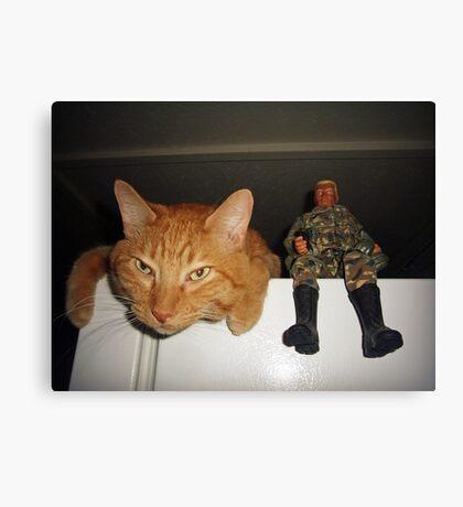 Frankie & Sgt. Major Joe Canvas Print
