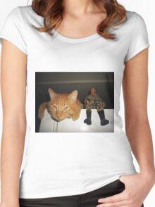 Frankie & Sgt. Major Joe Women's Fitted Scoop T-Shirt