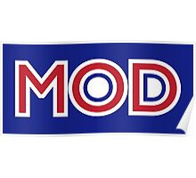 MOD - Red Stripe Poster