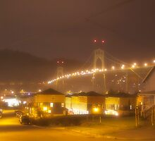 St. Johns Bridge {Foggy Nights} by Ritchie Belleque