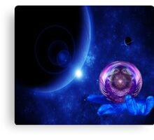 Hand in time Canvas Print