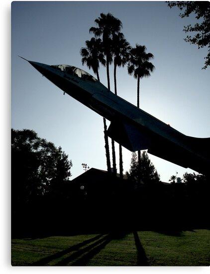 Backlit Jet - Burbank, CA by Barnewitz
