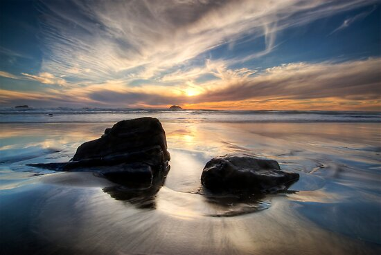 West Coast Sundown by Michael Treloar