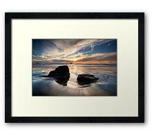 West Coast Sundown Framed Print