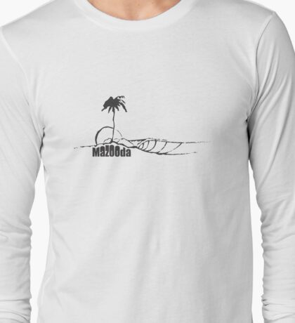 Mazooda_Island_Black Long Sleeve T-Shirt
