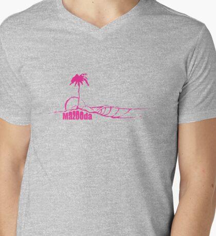Mazooda_Island_Magenta Mens V-Neck T-Shirt