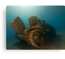 The Tank Wreck of Jordan Canvas Print