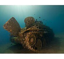 The Tank Wreck of Jordan Photographic Print