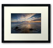 West Coast Sun Still Going Down Framed Print