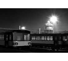 Train Station in Night Photographic Print