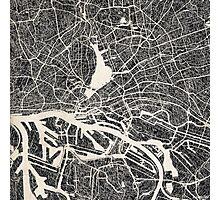 Hamburg map Photographic Print