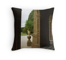 Archway at Werribee Throw Pillow