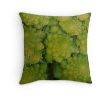 Textured greens Throw Pillow
