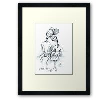 lovely couple Framed Print