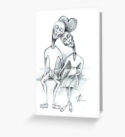 lovely couple Greeting Card