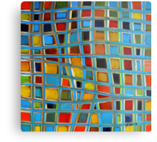 Abstract Cubes Metal Print