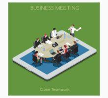 Startup Teamwork Tablet Virtual Meeting Room by aurielaki