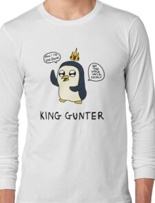King Gunter (Adventure Time/Kendrick Lamar Mash Up) Long Sleeve T-Shirt