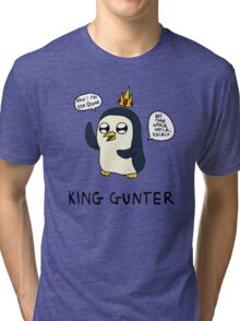 King Gunter (Adventure Time/Kendrick Lamar Mash Up) Tri-blend T-Shirt