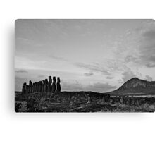once upon a time in Easter Island Canvas Print