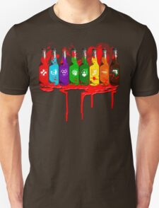 Perks all lined up and bloody T-Shirt