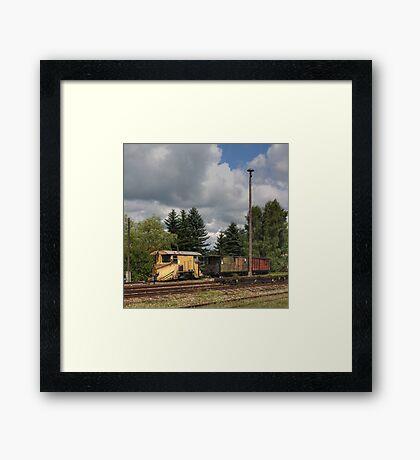 Cranzahl Station - The Snowplow Framed Print