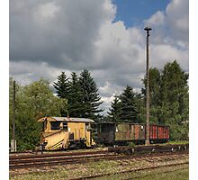 Cranzahl Station - The Snowplow Photographic Print