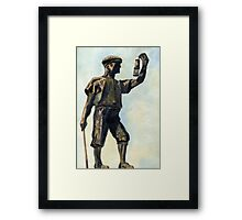 106 - WOODHORN COLLIERY MEMORIAL - DAVE EDWARDS -WATERCOLOUR - JUNE 2003 Framed Print