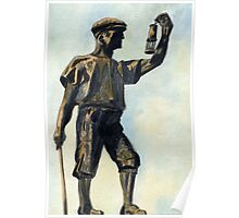 106 - WOODHORN COLLIERY MEMORIAL - DAVE EDWARDS -WATERCOLOUR - JUNE 2003 Poster