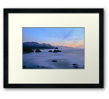 Coastal Mist Framed Print