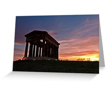 Penshaw Monument at Sunset Greeting Card