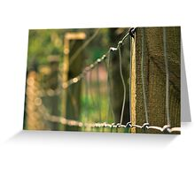 Sunny Fence Greeting Card