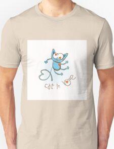 Cat in love. Unisex T-Shirt