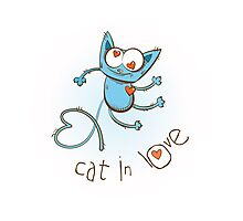 Cat in love. Photographic Print