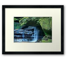Who says blue and green should never be seen_Somersby Falls Framed Print