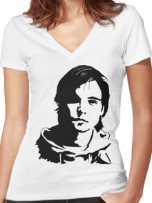 Andrew Lee Potts 2 Women's Fitted V-Neck T-Shirt
