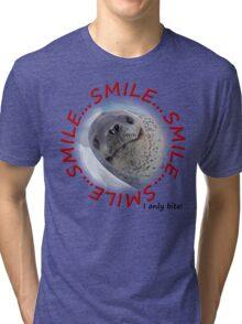 Smile...I only Bite! Tri-blend T-Shirt