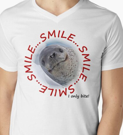 Smile...I only Bite! Mens V-Neck T-Shirt
