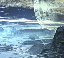 Underground Cities  - Ice Planet Omega by SpinningAngel
