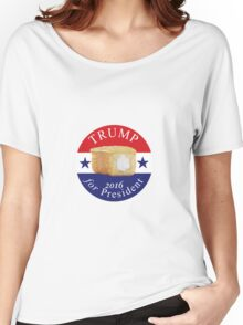 Trump Campaign Button Women's Relaxed Fit T-Shirt