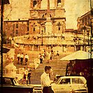 Spanish Stairs - Rome - 1968 by pennyswork