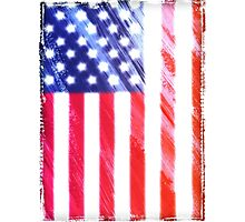 usa flag us flag grunge nice cool election Photographic Print