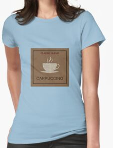 Old coffee poster Womens Fitted T-Shirt