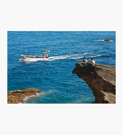 People on an islet Photographic Print