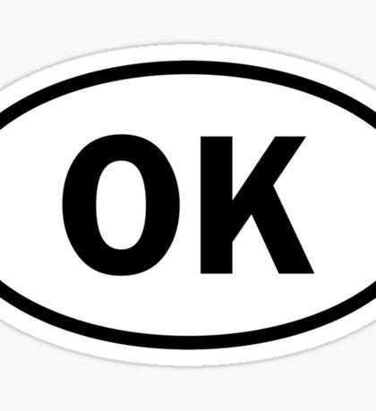 Oklahoma - OK - oval sticker and more Sticker