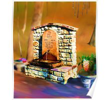 Grotto, living spring water Poster