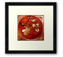 Collagraph 2 in Orange Framed Print