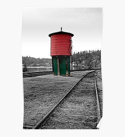 Old Train Water Tower - Wakefield Quebec Poster